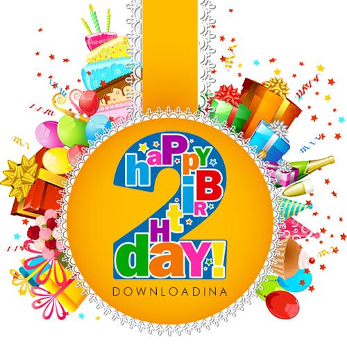 تولد 2 سالگی وبسایت دانلودینا